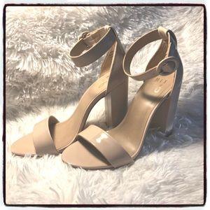 Mix No. 6 Avery Block Heel Sandal 👡 Cream Pink